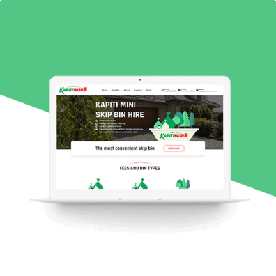 kapiti skip laptop web design