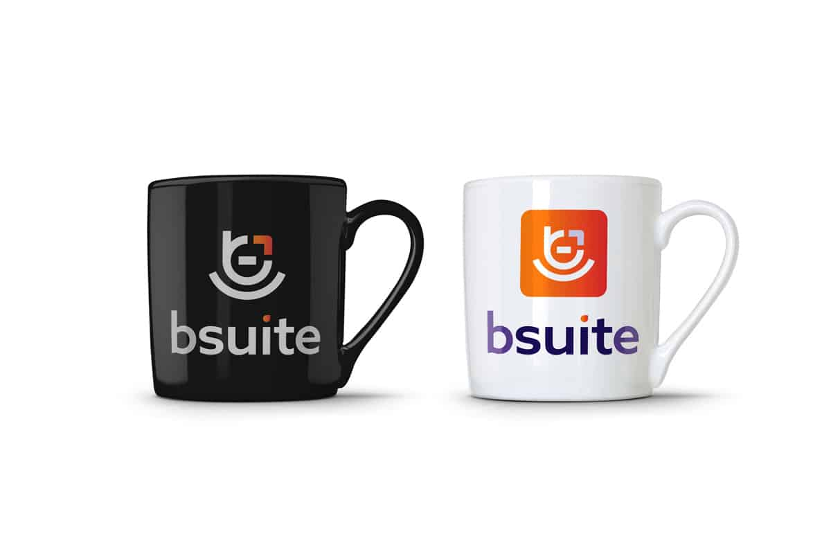 be suite branding on mug